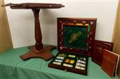 1991 FRANKLIN MINT MONOPOLY COLLECTOR EDITION GAMEBOARD, DRAWERS AND STAND